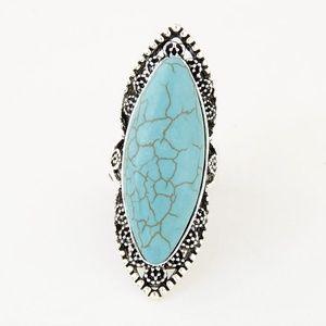 BOHO Silver ToneStatement Fashion Ring